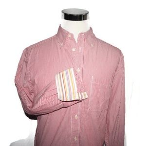 Robert Graham Large R&G Striped Button Shirt Cuffs